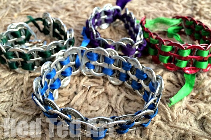 How to make ring pull tab bracelets - free to make and look fabulous