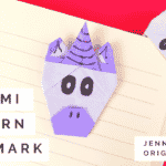 Origami Unicorn Bookmark