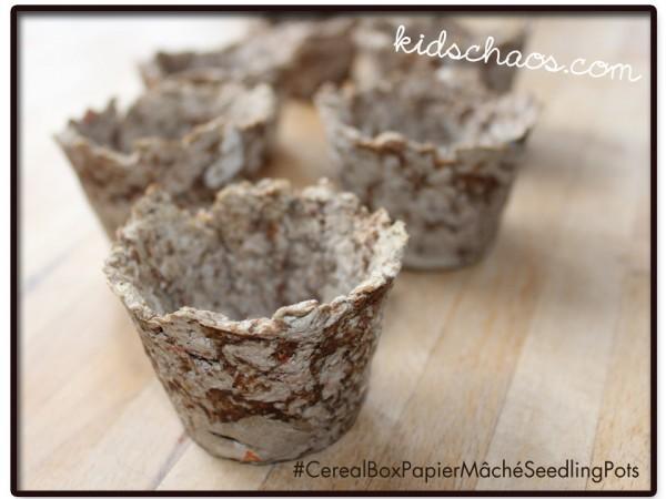 Papier Mache Seeling Pots