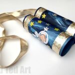 Space TP Roll Binoculars with Curious George