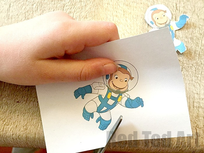 TP Roll Binoculars - these are our special set ready for exploring SPACE with curious george