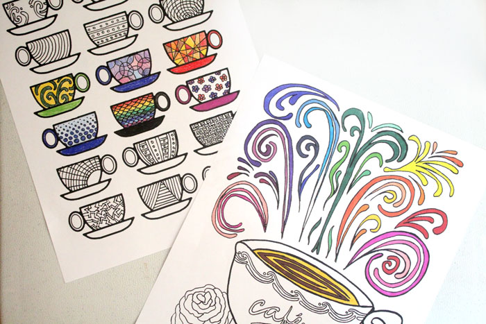 coffee free printable adult coloring pages 2 - Free Printable Adult Coloring Pages 2