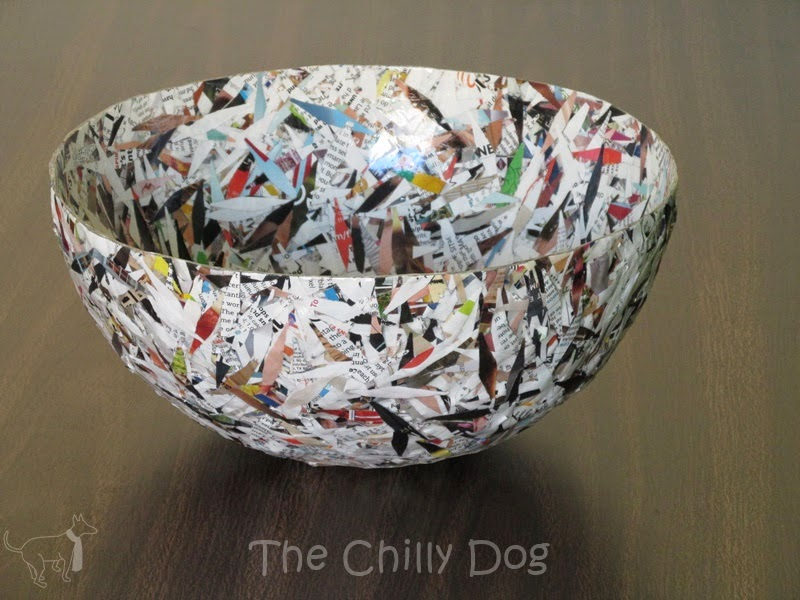 shredded paper bowl DIY