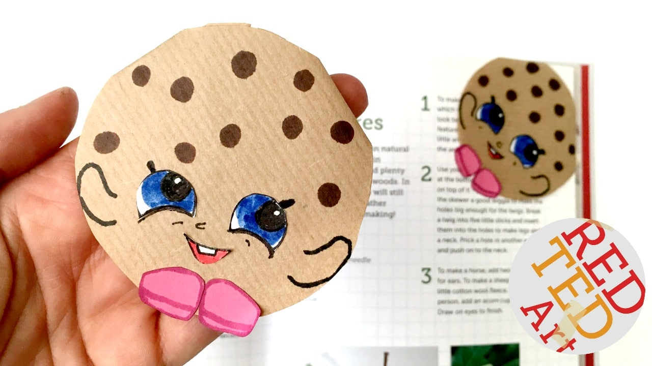 Cookie bookmark kooky shopkins red ted art s blog