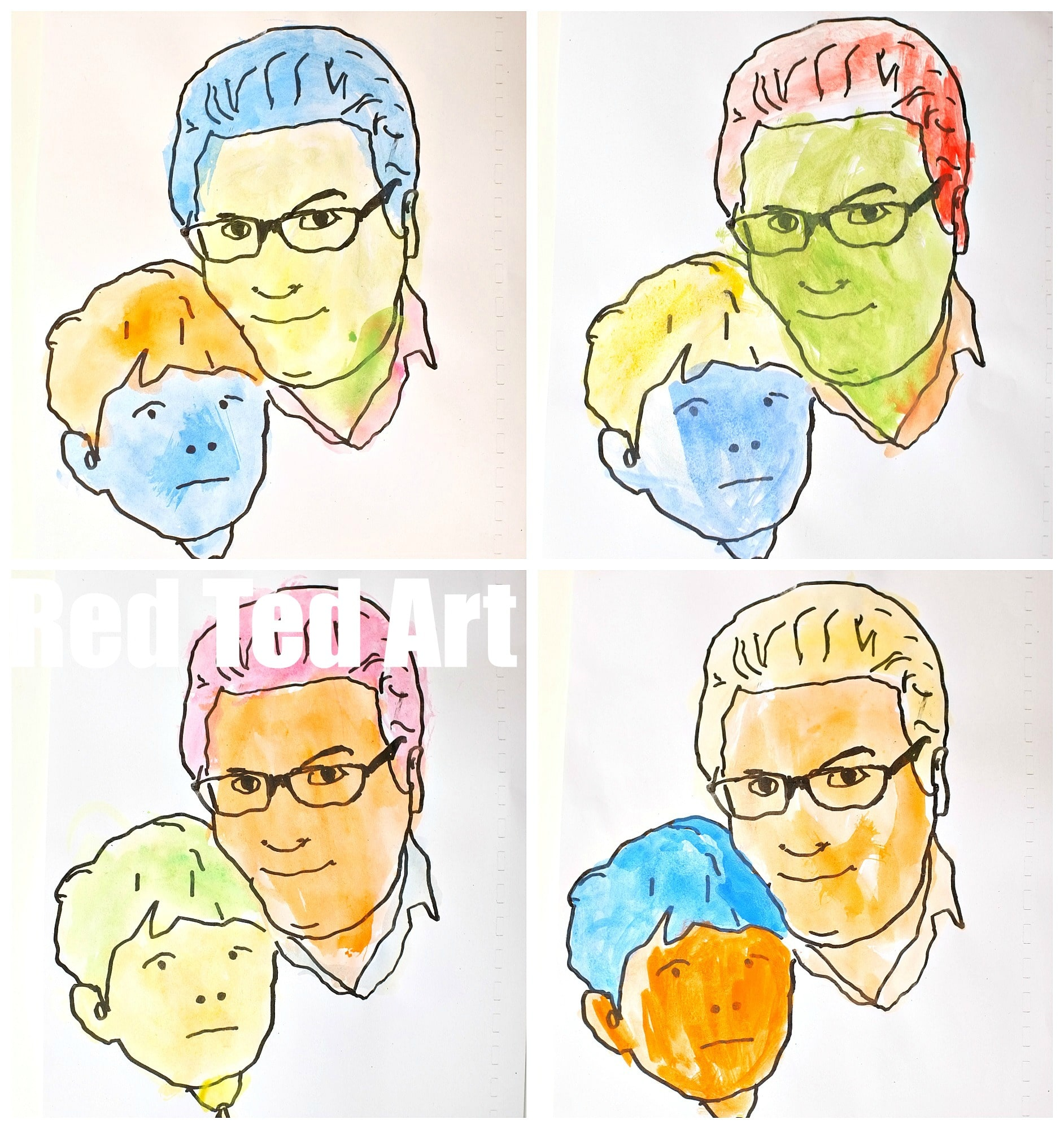 Daddy 7yrs old - how to do a DIY Pop Art picture