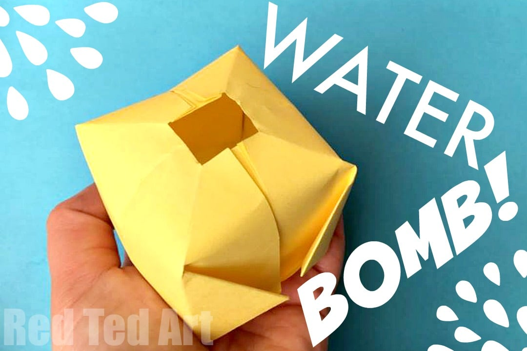 Diy paper water bombs fun origami red ted art 39 s blog for Art and craft with paper easy
