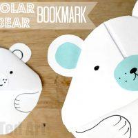 Polar Bear Bookmark Corner
