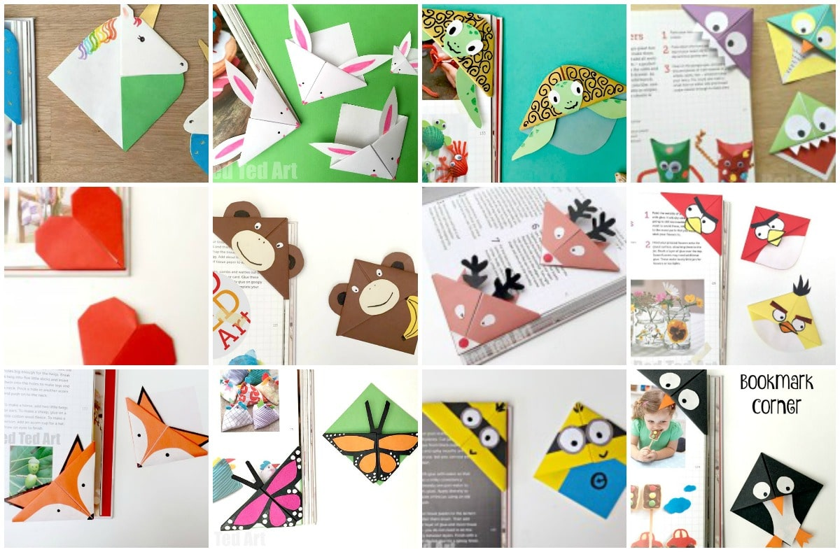 Fabulos corner bookmark ideas red ted art 39 s blog for Art and craft books for kids