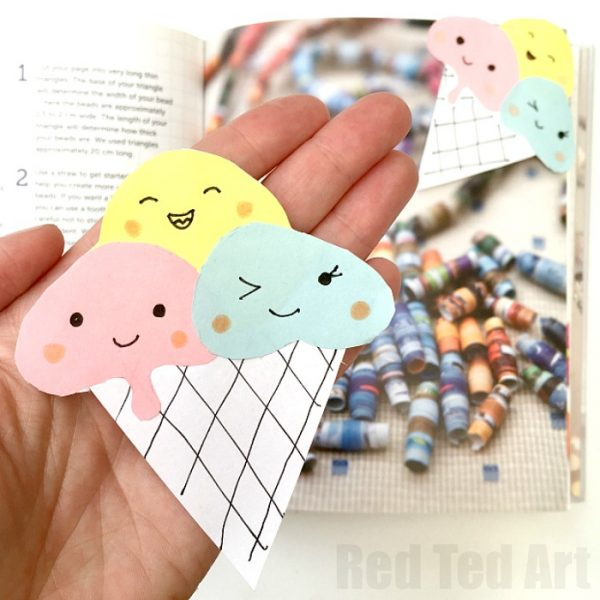 Ice Cream Corner Bookmark