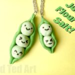Salt Dough Pendants – Kawaii Peas in a Pod