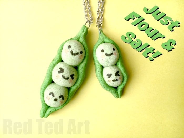 Easy Summer Craft Ideas For Kids Part - 29: Peas In A Pod Pendants Made From This Easy Salt Dough Recipe U2013 A Great  Summer Camp Friendship Craft.