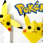 Pikachu Corner Bookmark - so easy and simple - cute origami bookmark