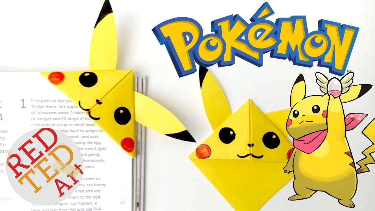 Pikachu Corner Bookmark So Easy And Simple Red Ted Arts Blog