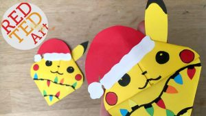 Pikachu Bookmark Idea - Love this Corner Bookmark Design. Great for Paper Christmas Craft for Kids