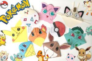 Pokemon Go Bookmark Corners - 8 of the favourite Pokemon characters plus a Poke Ball!