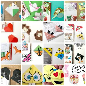 Corner Bookmark Designs for kids. Super fun collection of Bookmark DIYs #bookmarks