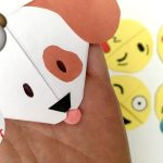 emoji dog - bookmark making ideas for kids
