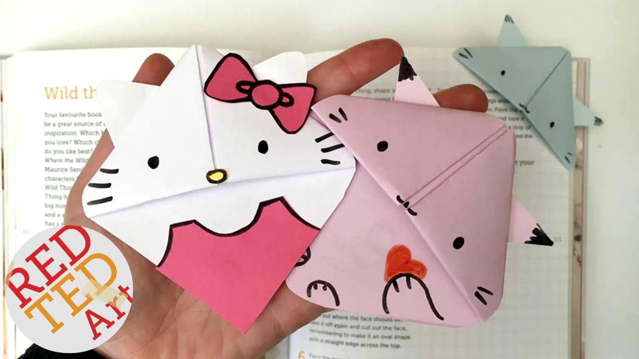 Easy Origami Cat Bookmark