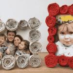 Newspaper Frame (Gift Kids Can Make)