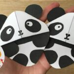 panda bookmarks - bookmark making ideas