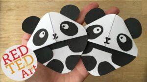 Easy DIY Panda Corner bookmark #panda #bookmark #cornerbookmark