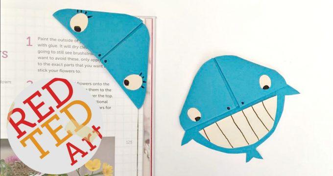 Easy Whale Bookmark Corner Design