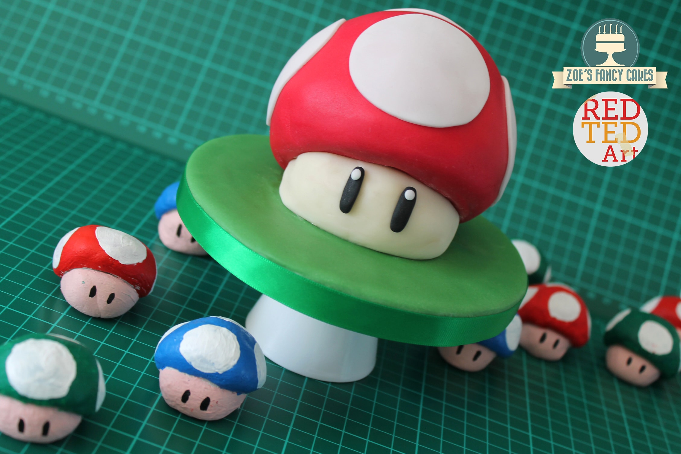 Mario Bros. Cake - an easy Buttercream and Fondant tutorial, bound to delight all gamers