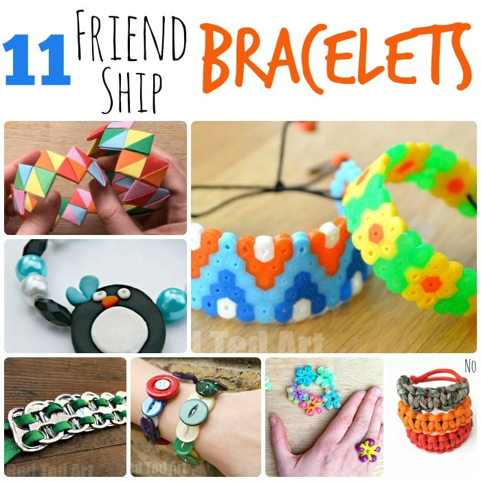 11 Friendship Bracelets. These are great for Summer Camp or for making and sending to your friends over the long summer holidays!