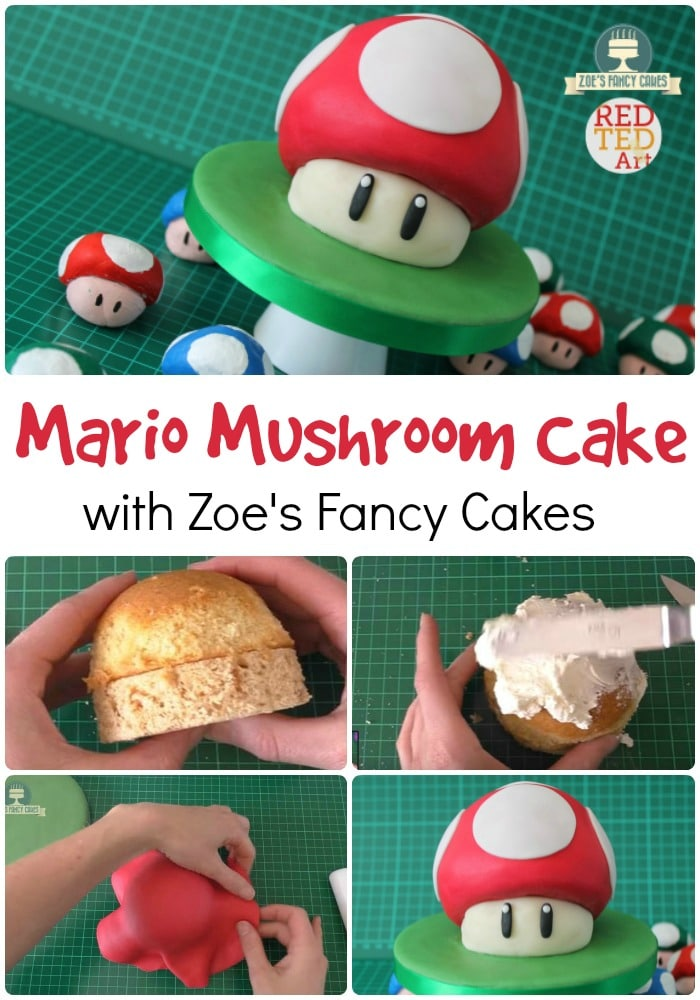 Calling all Mario Bros Fans! Make this Easy DIY Mario Mushroom Cake. Great for all Gamers. This is a delicious and easy Buttercream and Fondant Icing cake. Great for beginnner bakers.