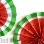 DIY Paper Fan – Melon Fans!