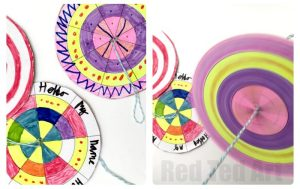 Paper Spinners with template