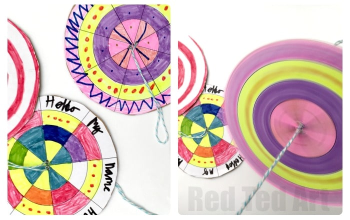 DIY Paper Spinner - design your own and explore color wheel theory