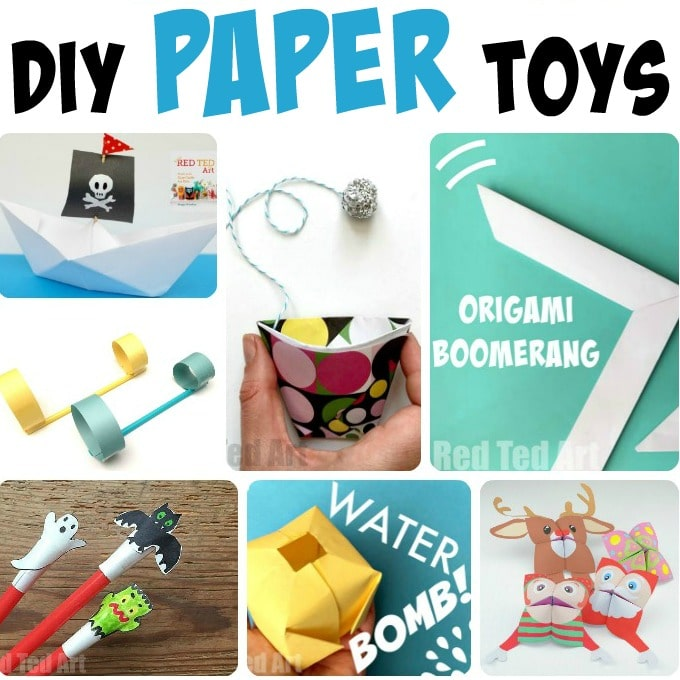 Diy Paper Toys Red Ted Arts Blog