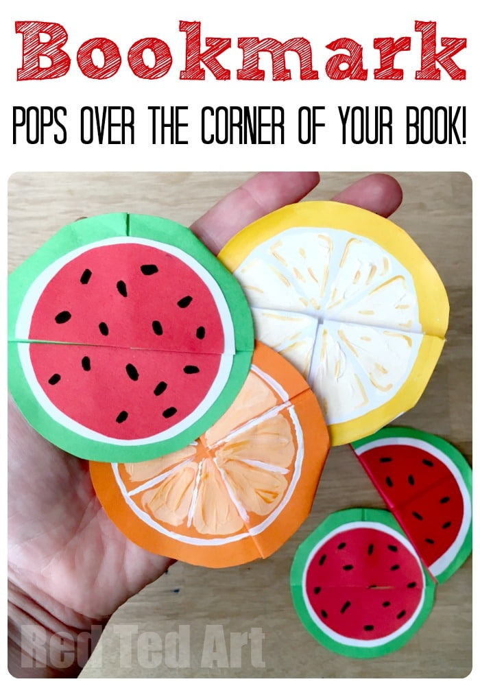 Melon Bookmark Corners - these fun bookmarks pop over the corner of your book. Great for summer reading and avoiding the summer slide
