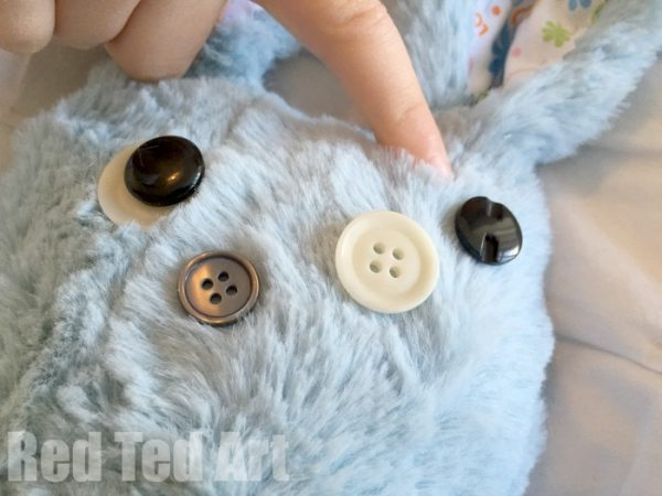 sewing a softie with kids