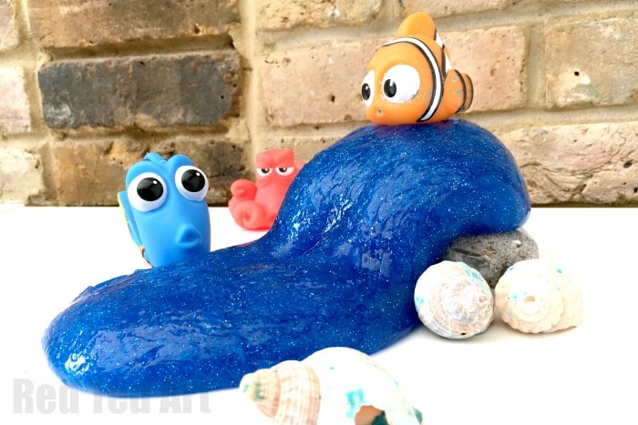 Finding Dory Slime - DIY Glitter Slime Tutorial - combine with Finding Dory for some under the ocean pretend play!