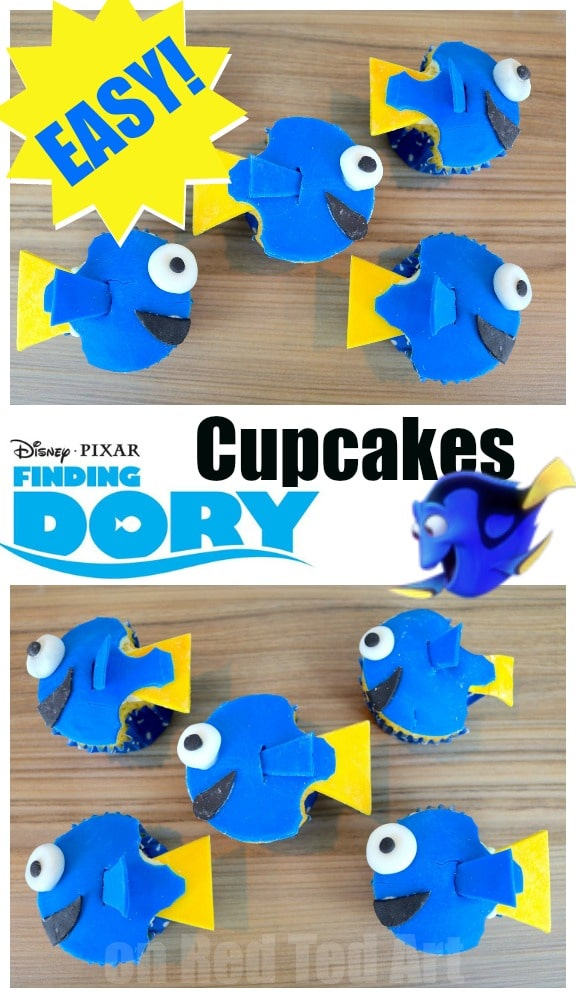 Easy Finding Dory Cupcakes Perfect for a Finding Dory Party