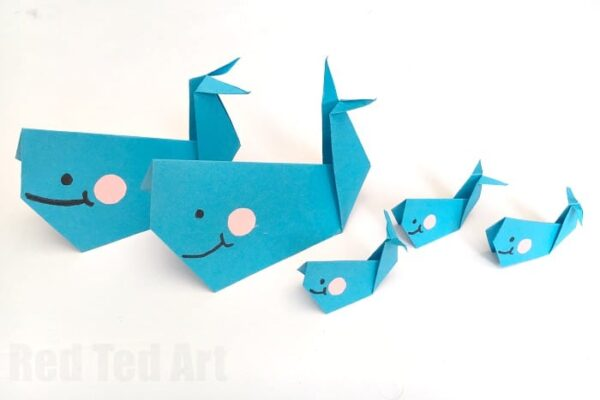 Diy Paper Fish Crafts Red Ted Arts Blog