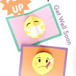 Easy Pop Up Card DIY - emoji get well soon designs - these pop up cards are SO SO SOOO easy to make. Love that you have one technique, but so many occassional designs to choose from!
