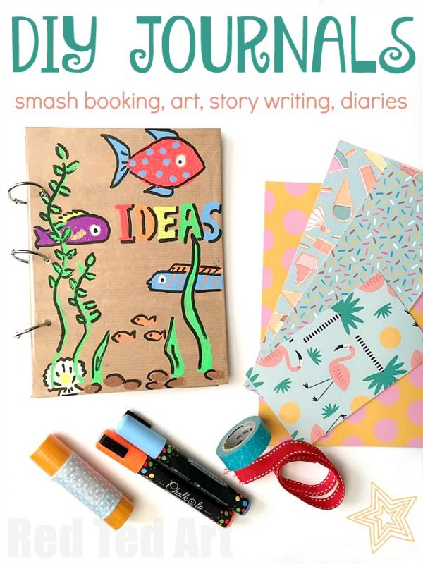 How to make a DIY Journal Tutorial. These journals are fun to make and a great as Smash Books, Art Journals, for story writing, sketckbooking or keeping as a diary! Love DIY journals