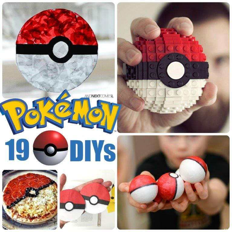 If you love Pokemon Go, you will ADORE these Pokeball crafts and many more Pokemon DIYs