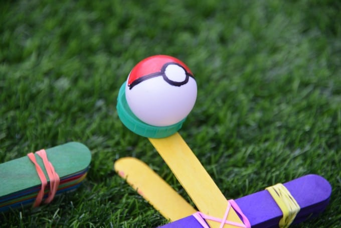 Poke ball catapult - Red Ted Art's Blog