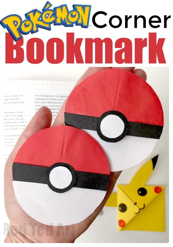 Coloring Pages Of Pokemon Balls : Pokeball bookmark corner fun with pokemon go red ted arts blog