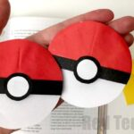 Pokemon Corner Bookmark - love this Origami based bookmark, it pops over the edge of your book and keeps your page safe. Perfect for Pokemon Go fans