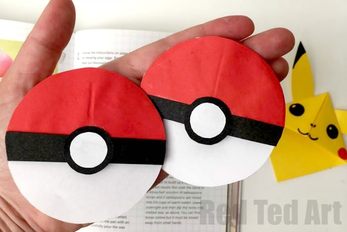 Pokeball Bookmark Corner Fun With Pokemon Go Red Ted Arts Blog