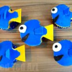 Super easy finding dory cupcakes - perfect party cakes