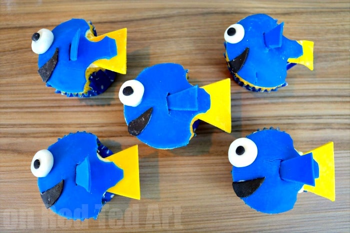 Finding dory cupcakes party food red ted art 39 s blog for Finding dory crafts for preschoolers