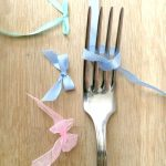 how to tie a ribbon bow using a fork - quick and easy and oh so satisfying
