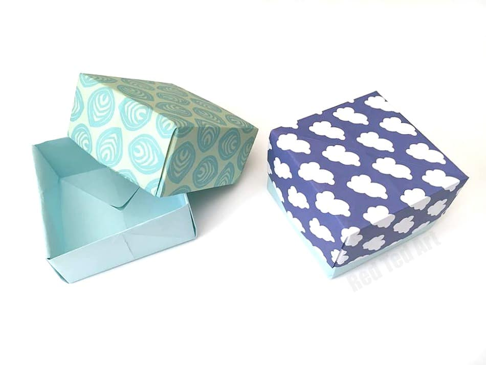 How To Make A Paper Box Tutorial Red Ted Arts Blog