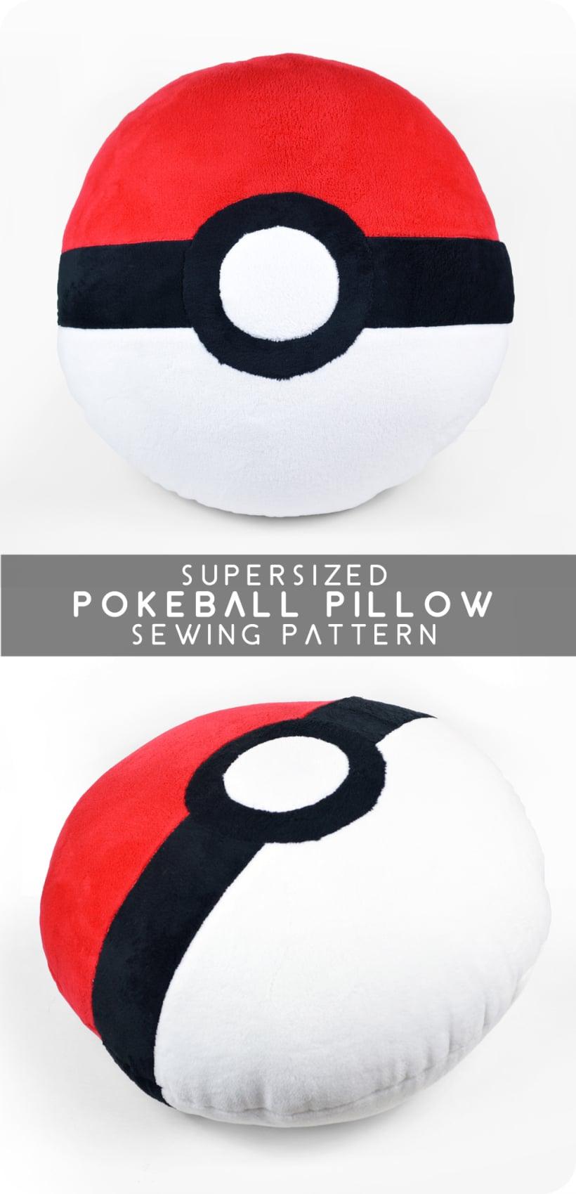 pokeball cushion diy